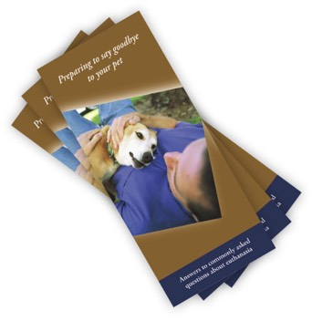 Preparing to say goodbye to your pet brochure
