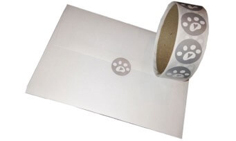 Roll of paw heart envelope seals